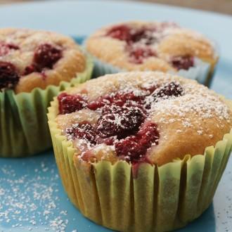 Vegane Himbeer-Muffins (Rezept)