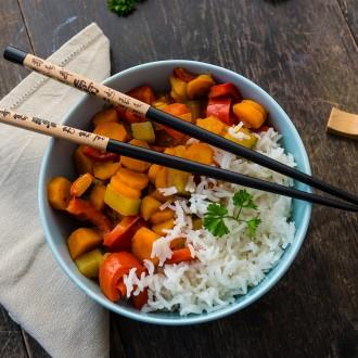 Reis mit scharfem Kurkuma-Gemüse